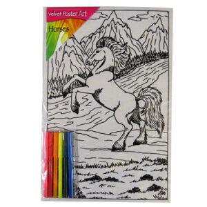 Childrens Large Velvet Poster Art - Mountain Horse