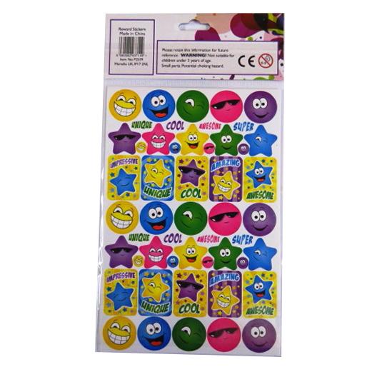 Children's Reward Stickers - Happy Sun and Stars