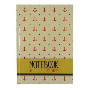 A5 Hard Cover Writing Notebook - Anchor Design Design