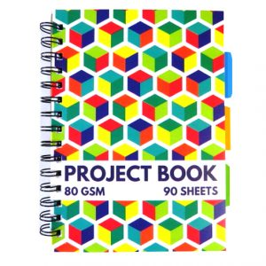 A5 Wirebound Project Notebook - 3D Cube Design