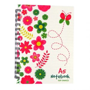 A5 Wirebound Notebook - Spring Garden Design
