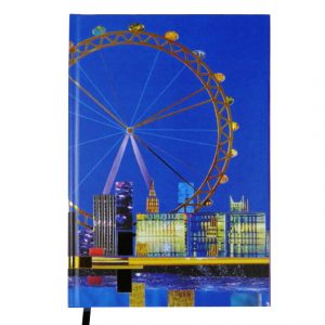 A5 Hard Cover Magnetic Closing Notebook - Spirit City (London)