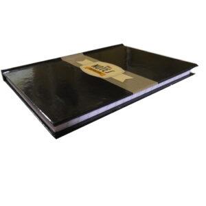 A6 Hard Cover Retro Notebook - Inspiration Design - Black