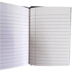 A6 Hard Cover Retro Notebook - Inspiration Design - Dark Grey
