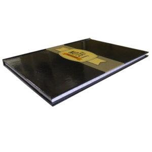A5 Hard Cover Retro Notebook - Inspiration Design - Black