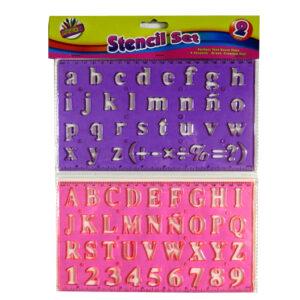 Alphabet Stencil Pack - 2 Piece