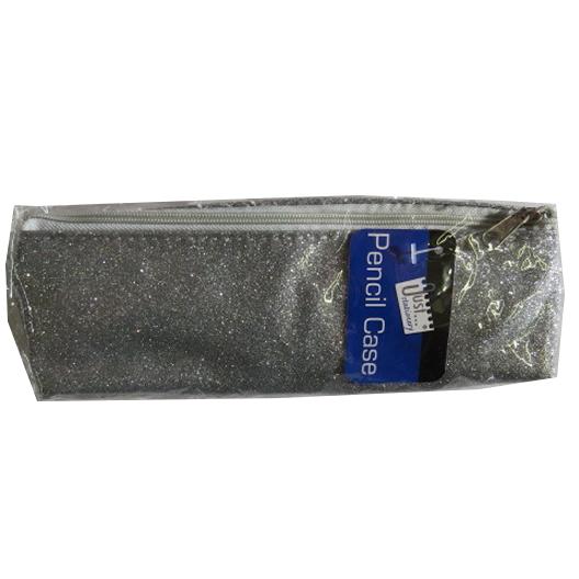 Glitter, Sparkle Pencil Case - Silver