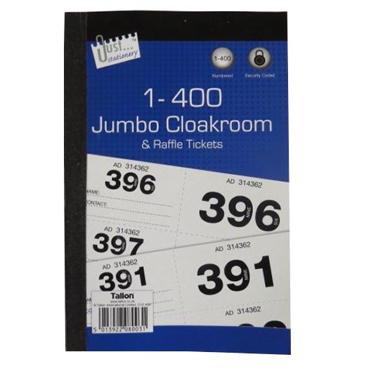 Raffle Cloakroom Ticket Book
