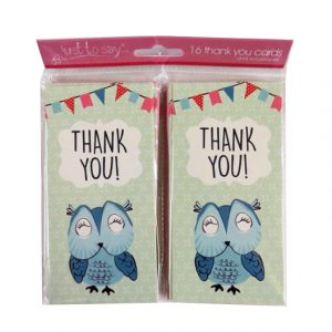 Girls Thank You Cards Owl Design