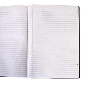 A4 Hard Cover Retro Notebook - Inspiration Design - Dark Grey