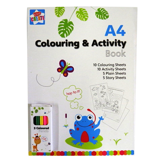 A4 Colouring and Activity Book