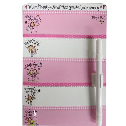 Juicy Lucy Magic Magnetic Weekly Planner Fridge & Freezer Board