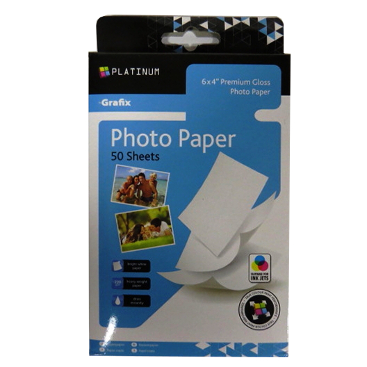 Photo Paper, 6 x 4, Gloss, Grafix Platinum