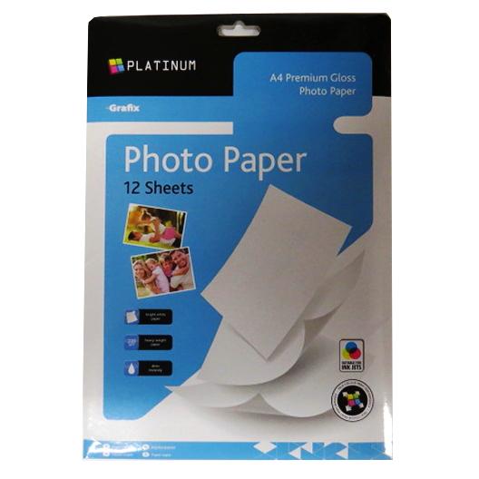 Photo Paper, A4 Gloss, Grafix Platinum