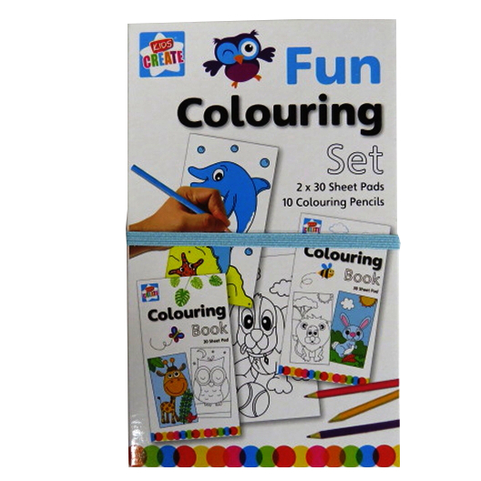 Childrens Easy Carry Fun Colouring Pack