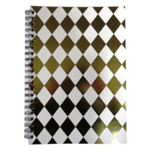 A4 Wirebound Notebook - Harlequin Gold
