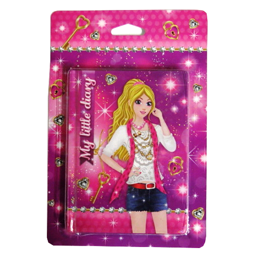 Sparkle Girl Diary with Holographic Cover - 150mm x 110mm