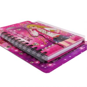 Sparkle Girl Diary with Holographic Cover - 145mm x 110mm