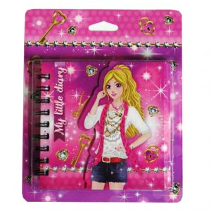 Sparkle Girl Diary with Holographic Cover - 130mm x 130mm