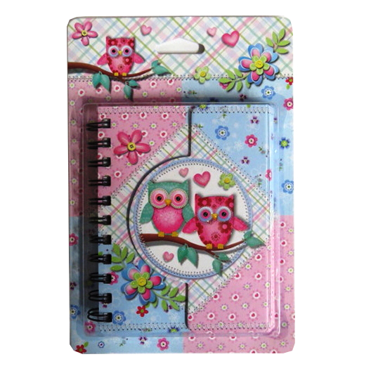 Owls Diary with Magnetic Closing Cover - 145mm x 110mm
