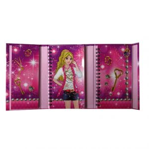 Sparkle Girl Organiser with Magnetic Cover - 130mm x 90mm