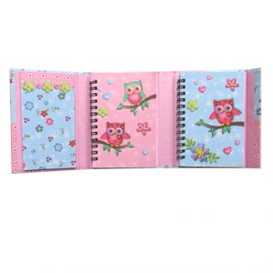 Owls Organiser with Magnetic Cover - 130mm x 90mm
