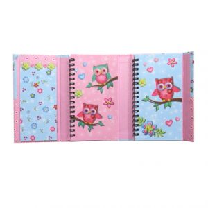 Owls Organiser with Magnetic Cover - 160mm x 95mm