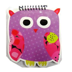 Spiralbound Owls Cut Out Notebook