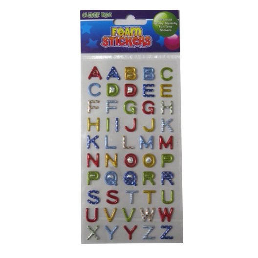 Foam Raised Stickers - Alphabet
