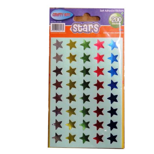 Metallic Stars Self Adhesive Stickers