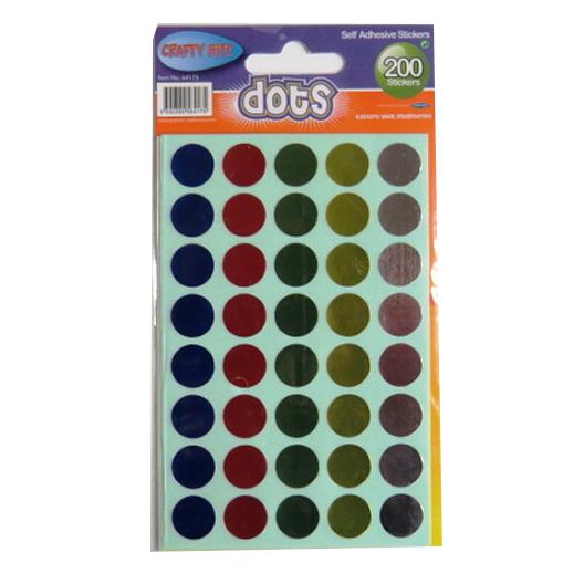 Metallic Dots Self Adhesive Stickers