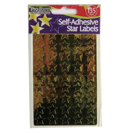 Adhesive Metallic Gold Stars