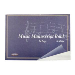 Music Manuscript Landscape Book