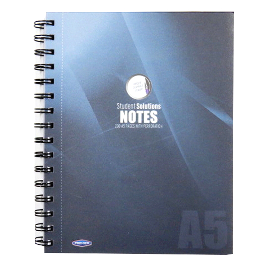 A5 Wirebound Writing Notebook, Frost Cover