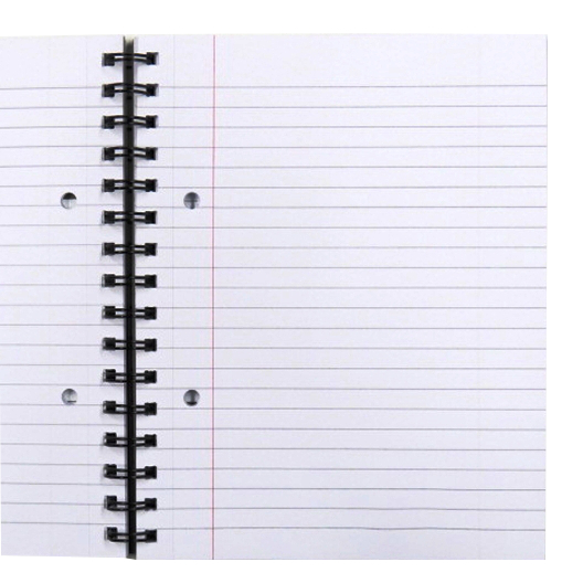 A5 Wirebound Writing Notebook, Frost Cover, Spectre Range