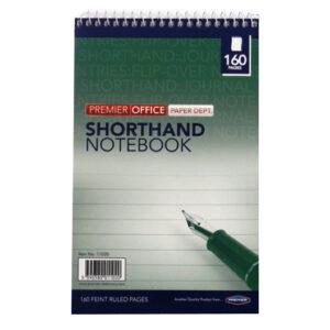 Shorthand Wirebound Notebook, 160 Pages