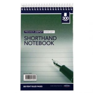 Shorthand Wirebound Notebook, 300 Pages