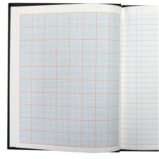 Scientific Notebook, 128 Pages, Single Line and Graph Ruled