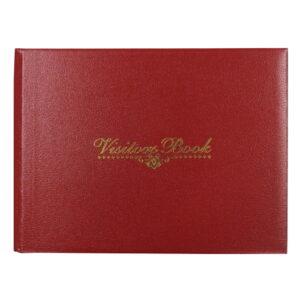 Visitors Landscape Record Book Red
