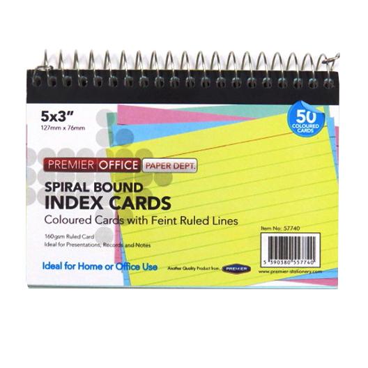 Spiralbound Index Cards, Size 5 x 3