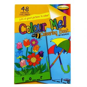 Colour Me Educational A4 Colouring Book of Words