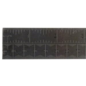 Dead Length Steel Ruler - 30cm / 12in Ruler