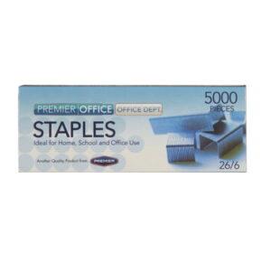 Premier Metal Staples, Standard 26/6 - 5000