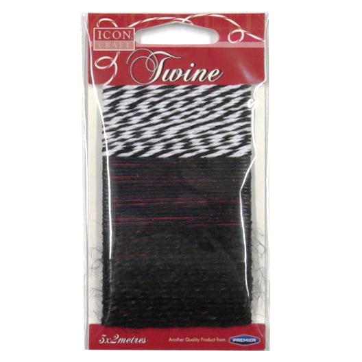 Decorative Twine, String, Black