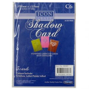 C6 Shadow Cards with Envelopes
