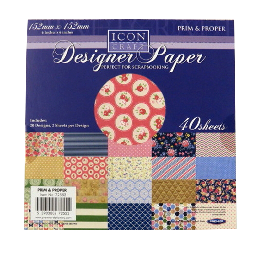Designer Paper - Prim and Proper