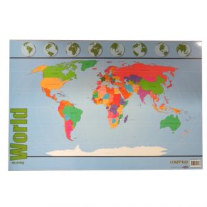 Map of the World Large Wall Poster