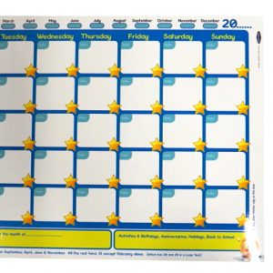 Childrens Reward Chart and Monthly Planner Wall Poster