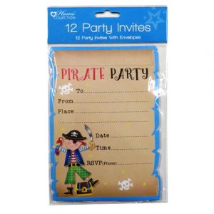 Pirate Party Invitations and Envelopes