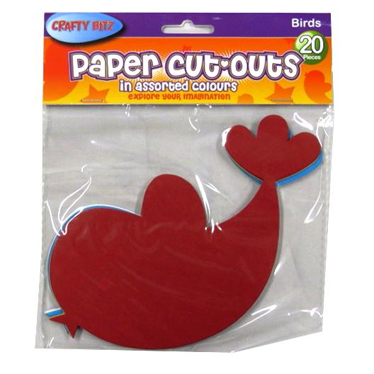 Children's Card Paper Shapes - Birds